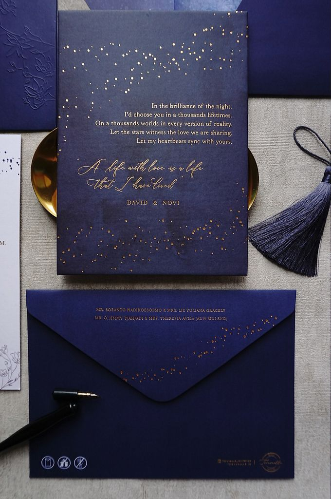 Starry Night by Trouvaille Invitation - 013