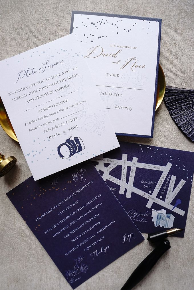 Starry Night by Trouvaille Invitation - 015