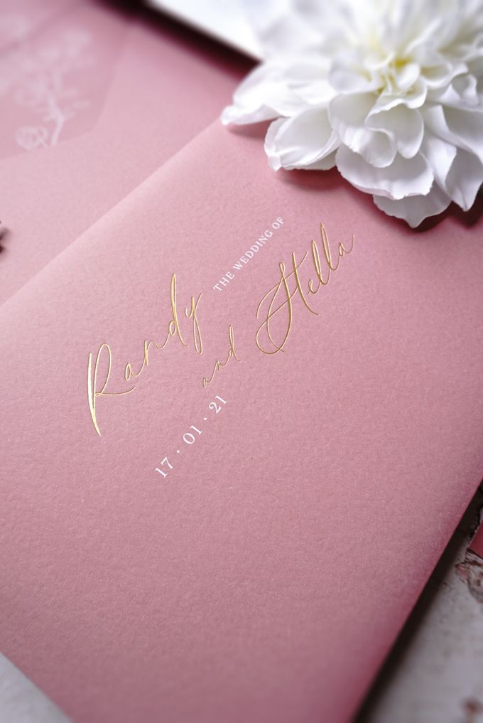 Pink Botanical by Trouvaille Invitation - 005