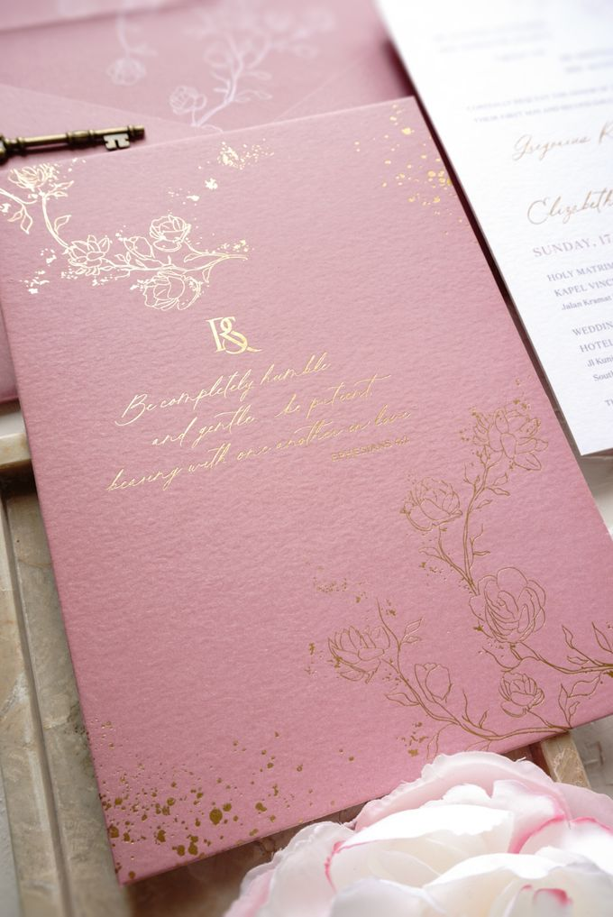 Pink Botanical by Trouvaille Invitation - 006