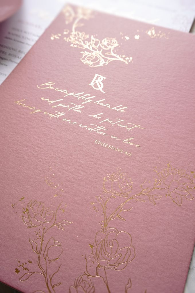 Pink Botanical by Trouvaille Invitation - 010