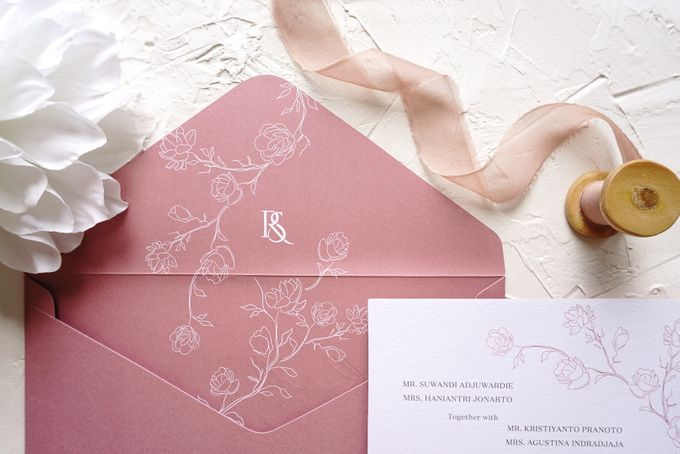 Pink Botanical by Trouvaille Invitation - 012
