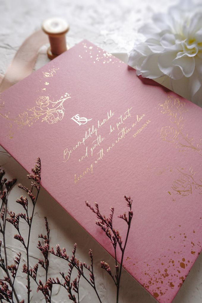Pink Botanical by Trouvaille Invitation - 002