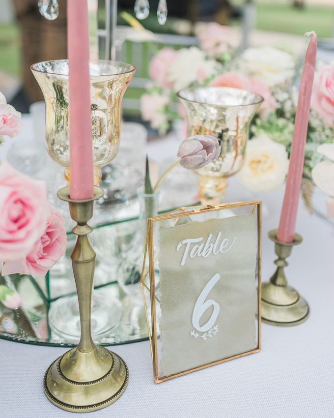 An Elegant Timeless Blush and Rose Gold Arrangement by Bali Wedding Atelier - 011