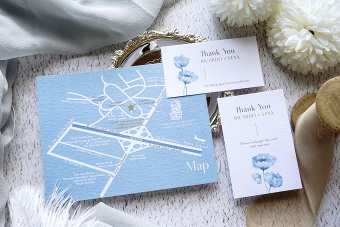Blue Poppies by Trouvaille Invitation - 008