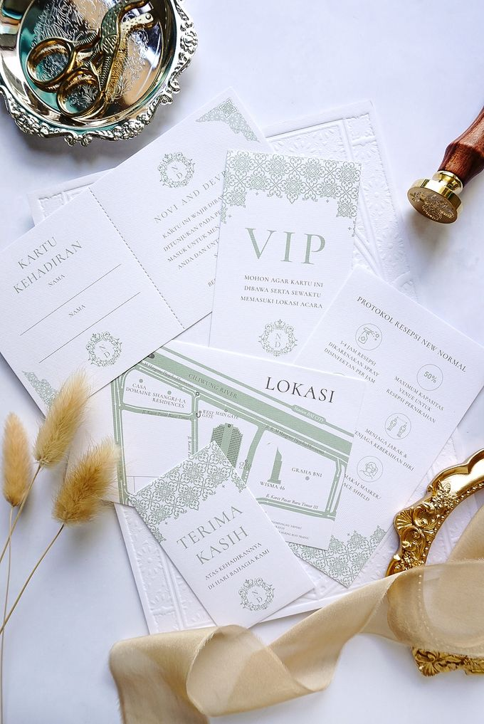 Foliage Morrocan by Trouvaille Invitation - 013