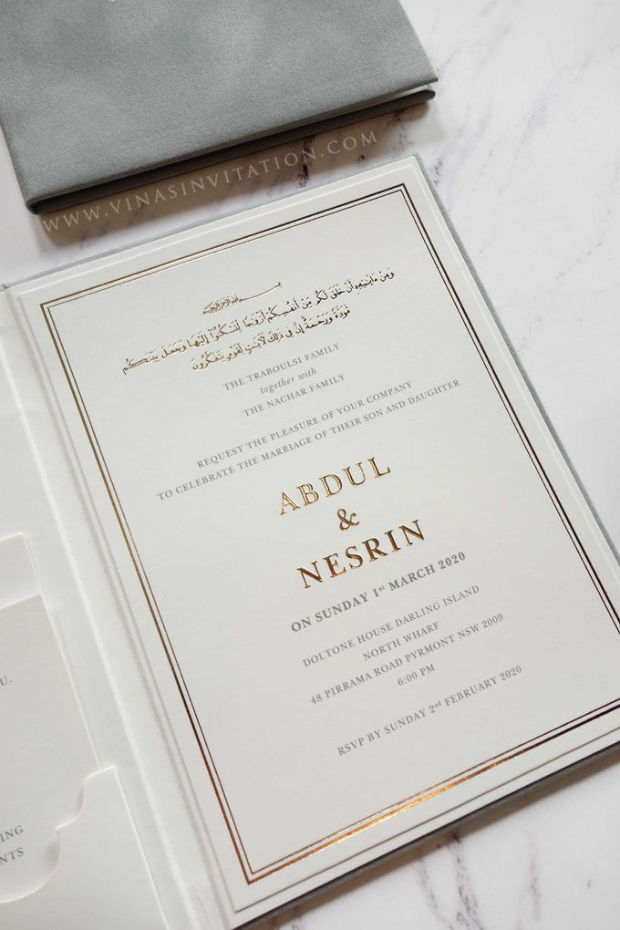 Abdul & Nesrin by Vinas Invitation - 005