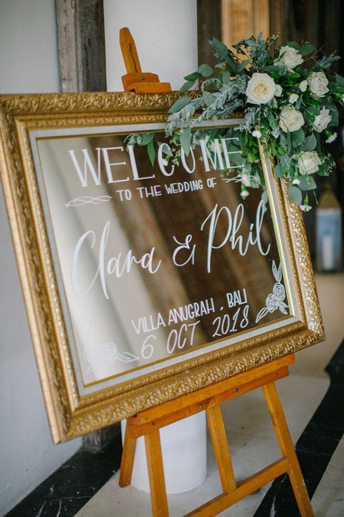 White Elegant Wedding Cliff by Bali Izatta Wedding Planner & Wedding Florist Decorator - 014