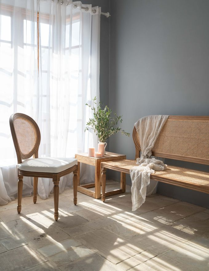 Louis Chairs and Bench Set by Le Scarlet Rental - 006