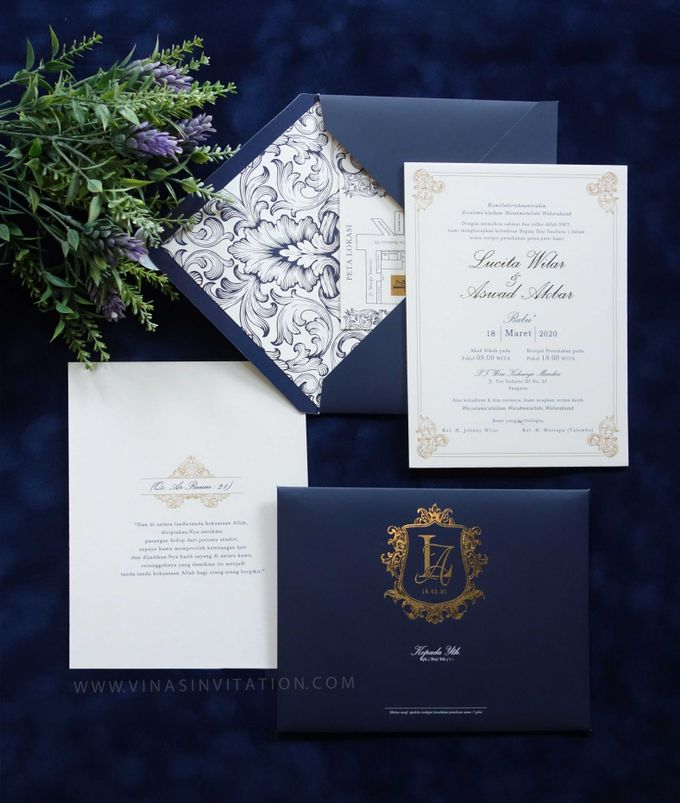 Lucita & Aswad by Vinas Invitation - 001