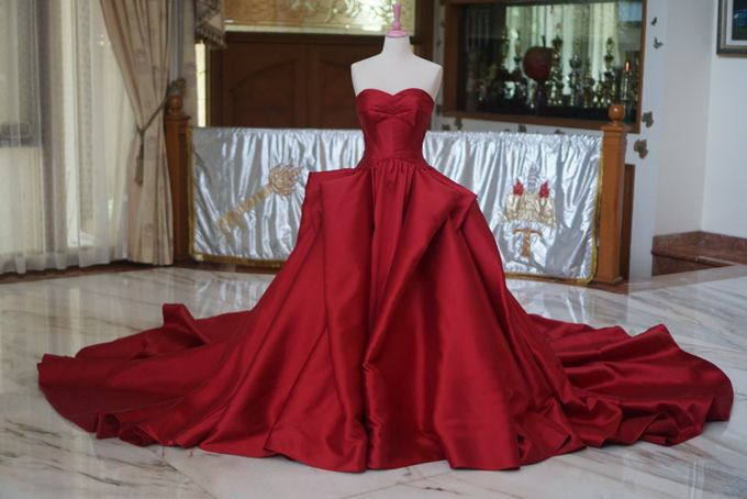 Red Big Ballgown by iLook ( Makeup & Couture ) - 001