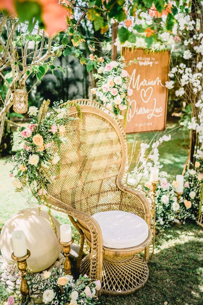 Bohemian Rustic Theme for The Wedding of Mariam & Pierre-Luc by Bali Wedding Atelier - 005
