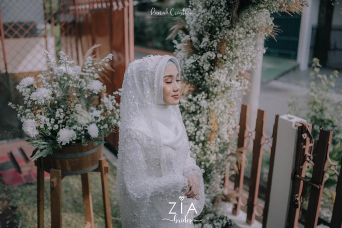 Akad Attire for Meidiana & Idham by Zia Brides Make Up Artist & Kebaya - 003
