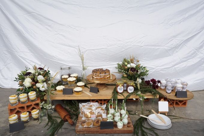 Rustic Dessert Table by Cloud Nine Cakery - 001