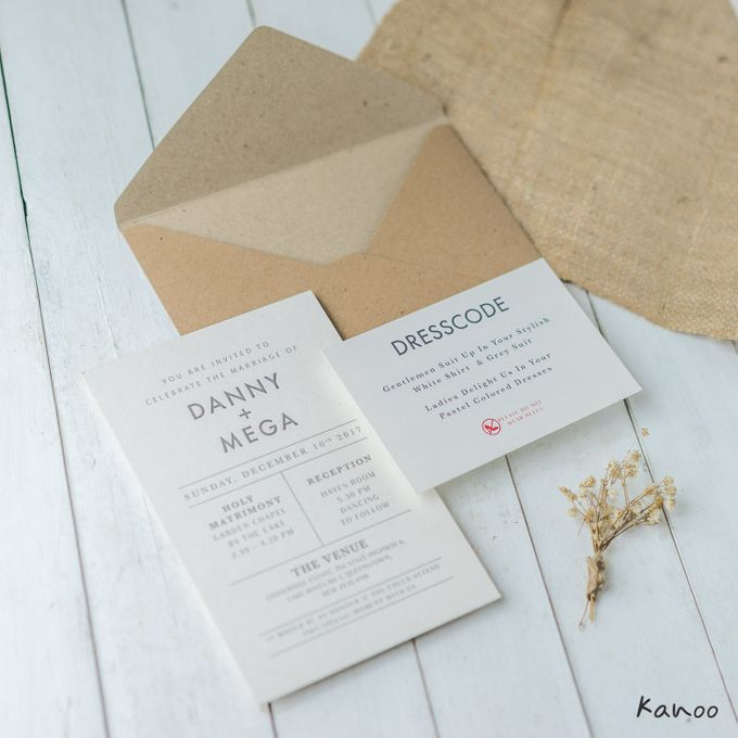 wedding invitation minimalist theme by kanoo paper gift