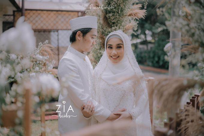 Akad Attire for Meidiana & Idham by Zia Brides Make Up Artist & Kebaya - 006