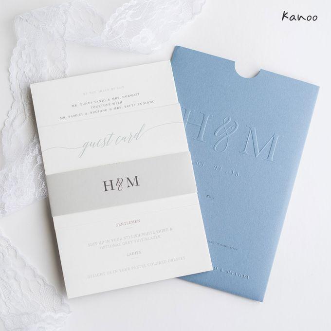 Wedding Invitation Aqua Blue Simply Minimalist by Kanoo Paper & Gift - 001