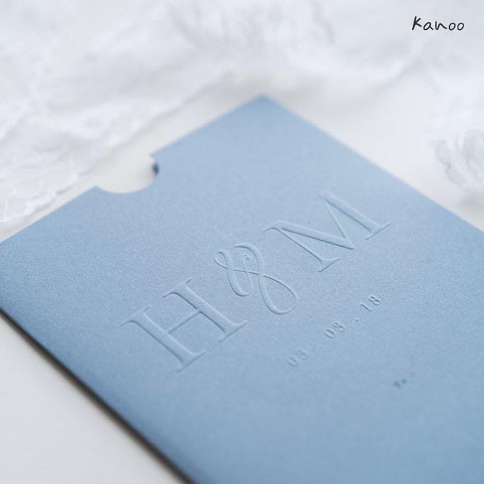 Wedding Invitation Aqua Blue Simply Minimalist by Kanoo Paper & Gift - 002