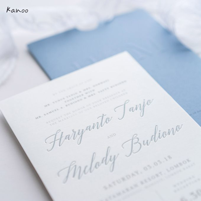 Wedding Invitation Aqua Blue Simply Minimalist by Kanoo Paper & Gift - 003