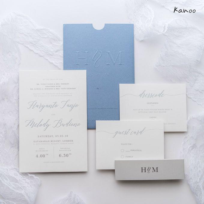 Wedding Invitation Aqua Blue Simply Minimalist by Kanoo Paper & Gift - 004