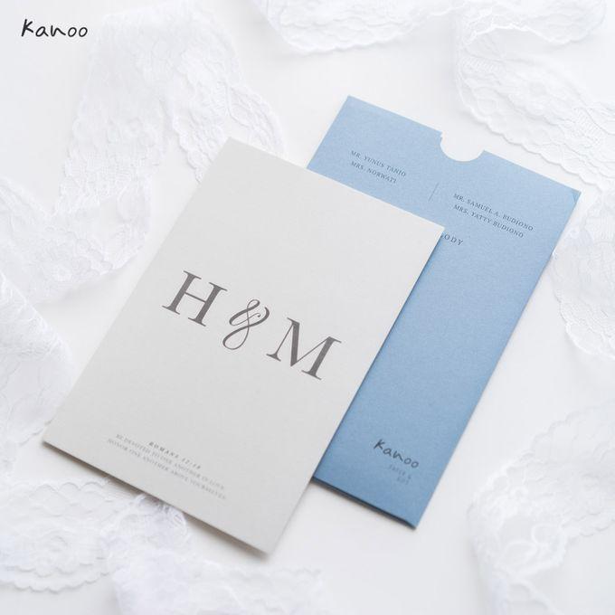 Wedding Invitation Aqua Blue Simply Minimalist by Kanoo Paper & Gift - 005