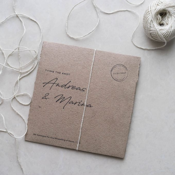 Wedding Invitation All Cotton Paper By Kanoo Paper Gift