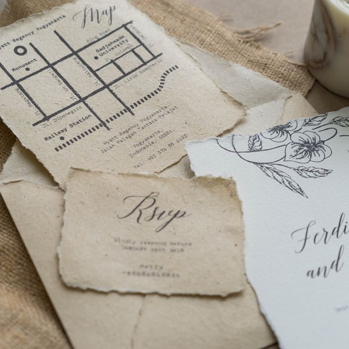 Wedding Invitation - Classic Broken White by Kanoo Paper & Gift - 003