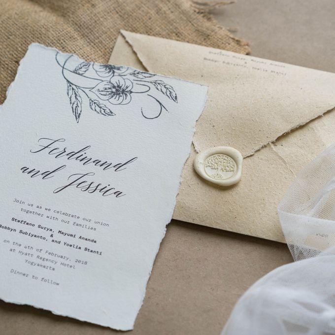 Wedding Invitation - Classic Broken White by Kanoo Paper & Gift - 004
