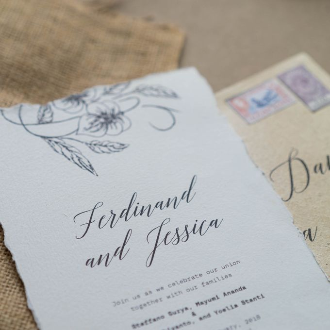 Wedding Invitation - Classic Broken White by Kanoo Paper & Gift - 005