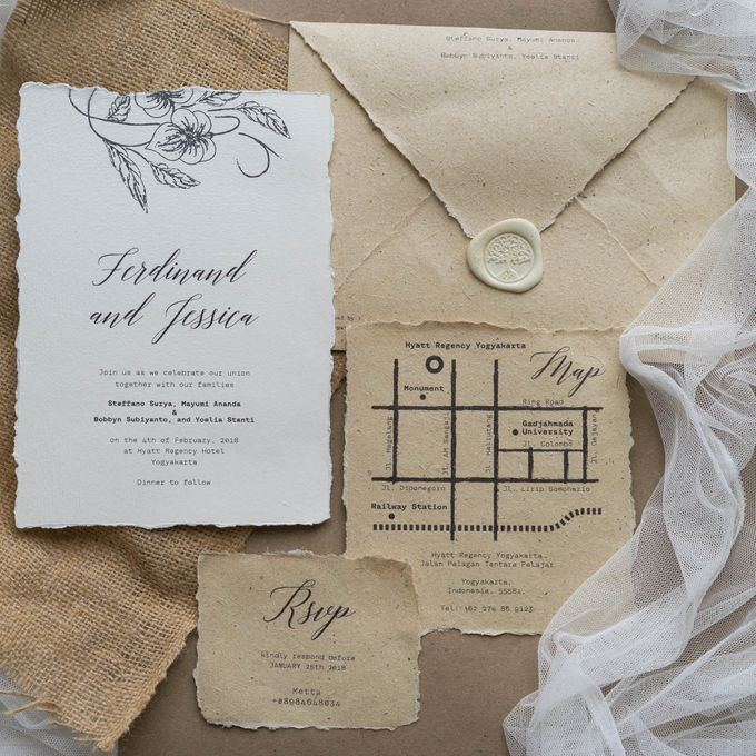 Wedding Invitation - Classic Broken White by Kanoo Paper & Gift - 006