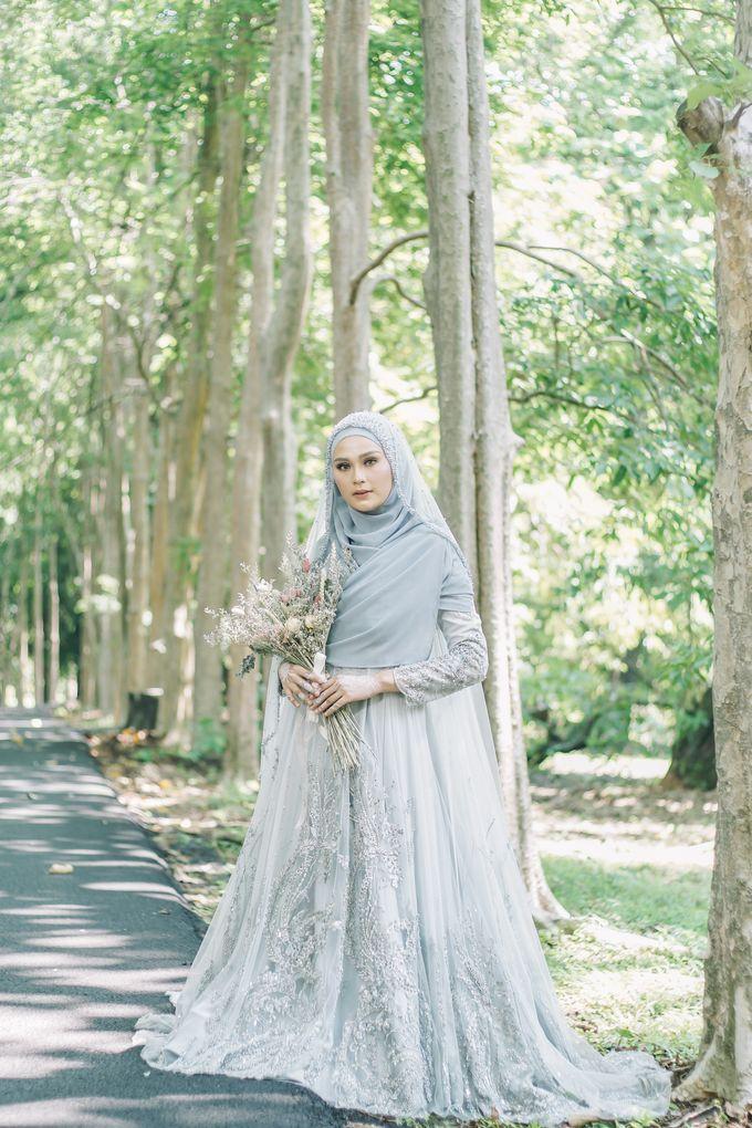 Ottoman Series - Blue Ice Resepsi by LAKSMI - Kebaya Muslimah & Islamic Bride - 003