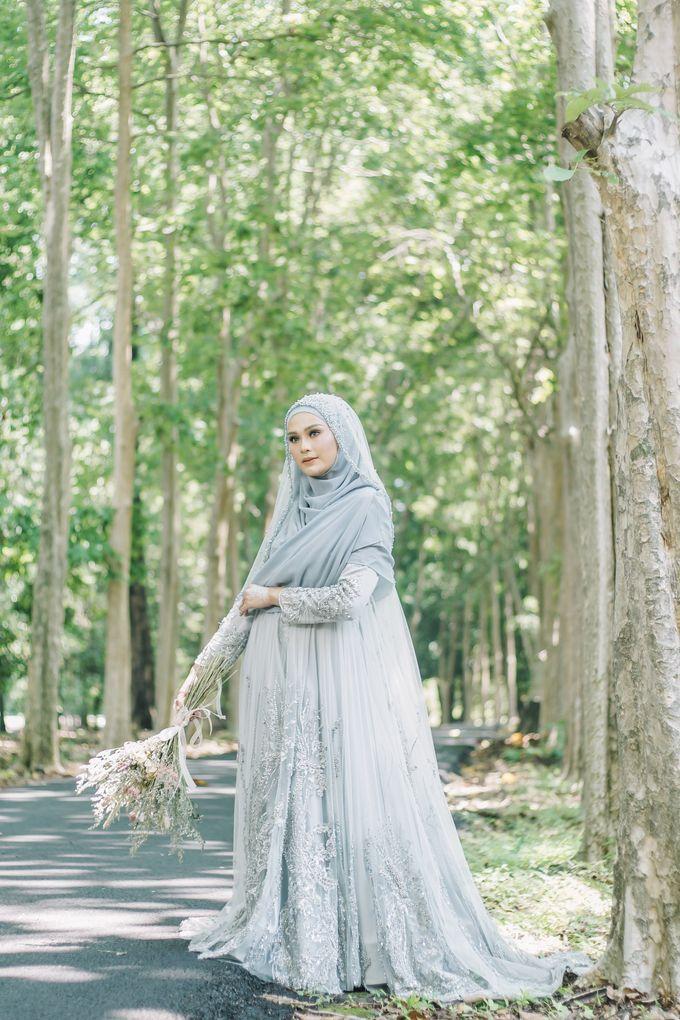 Ottoman Series - Blue Ice Resepsi by LAKSMI - Kebaya Muslimah & Islamic Bride - 005