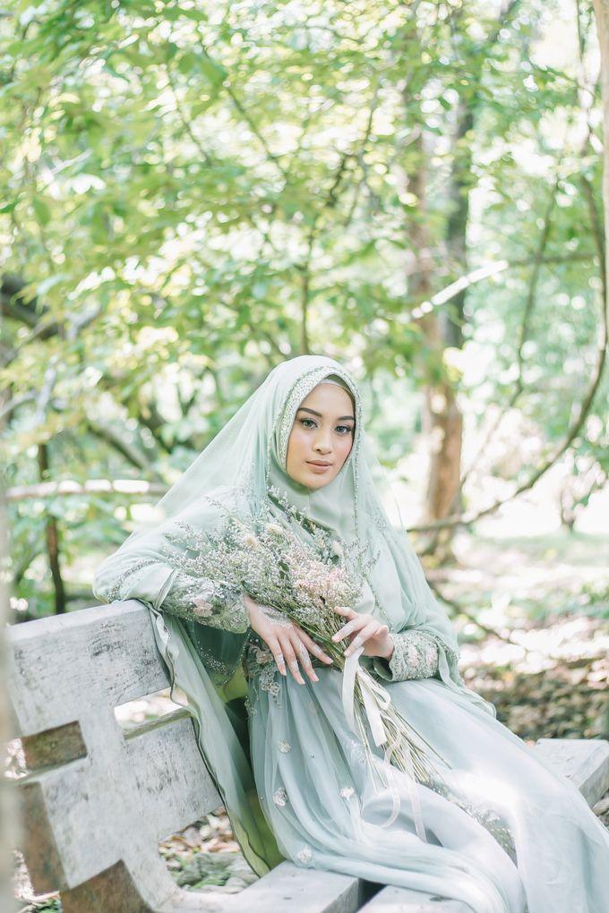 Ottoman Series - Green Sage Resepsi by LAKSMI - Kebaya Muslimah & Islamic Bride - 002