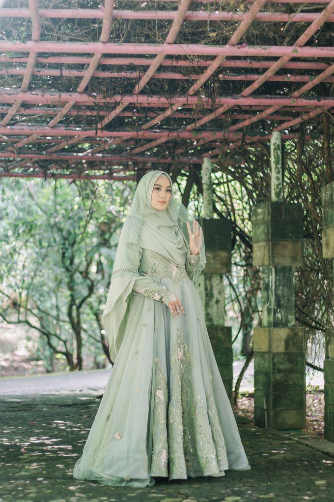 Ottoman Series - Green Sage Resepsi by LAKSMI - Kebaya Muslimah & Islamic Bride - 004