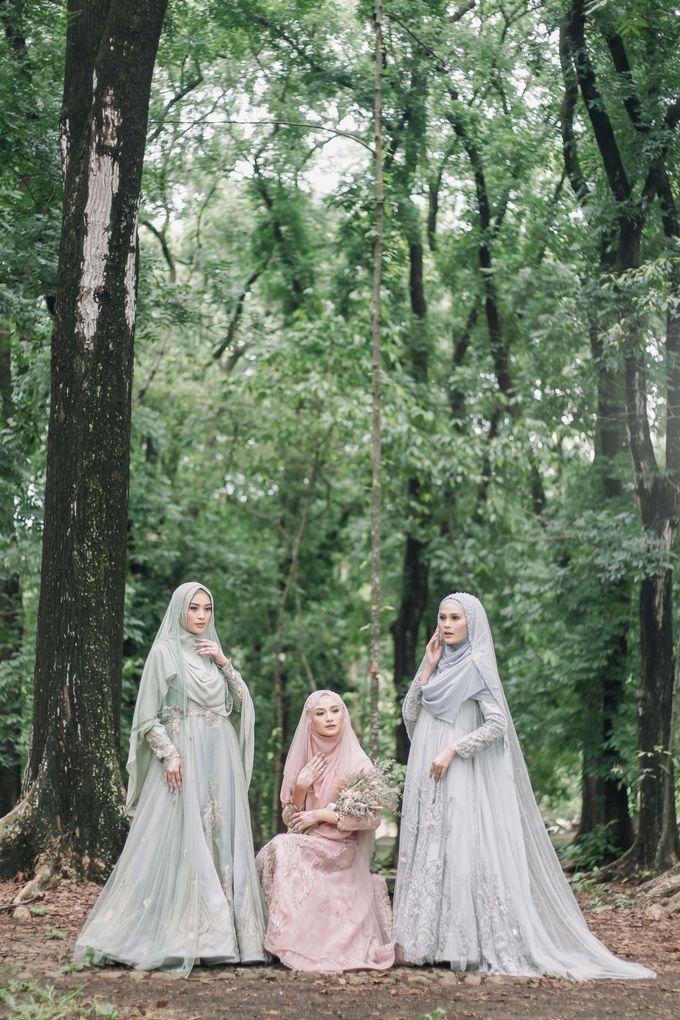 Dress Gaun Resepsi Gamis Ottoman Series by LAKSMI - Kebaya Muslimah & Islamic Bride - 005