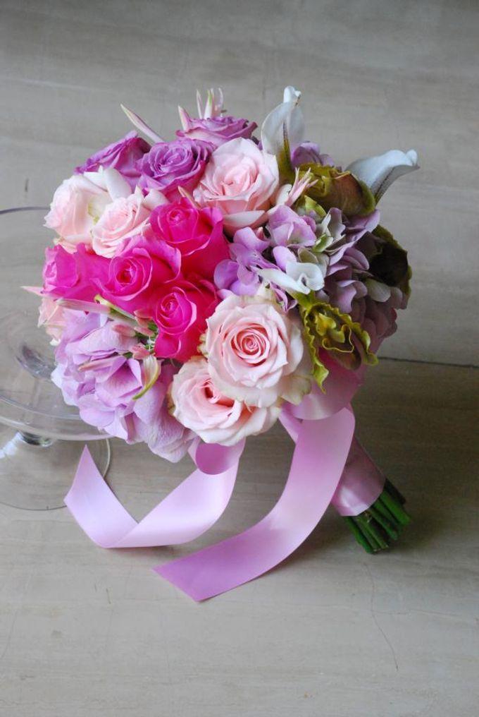 PINK theme -Wedding Bouquet by Hana Flower Boutique by Hana Flower Boutique - 002