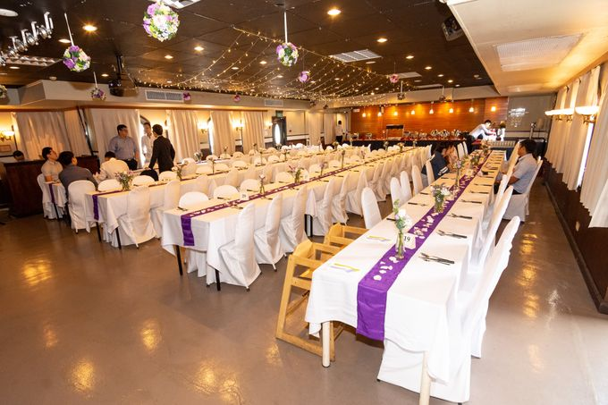 White And Purple Themed Wedding At Stewords Riverboat By Stewords