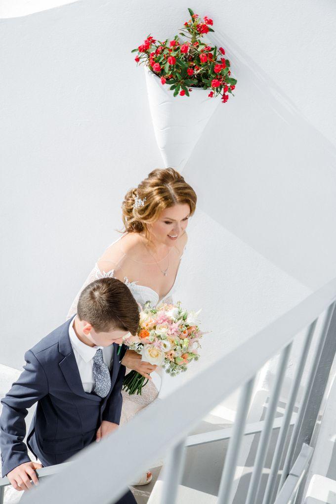 Wedding Ceremony Santorini, Larisa & Oleg by George Chalkiadakis Pro Art Photography - 008