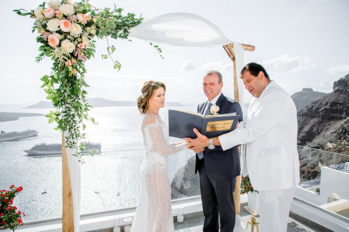 Wedding Ceremony Santorini, Larisa & Oleg by George Chalkiadakis Pro Art Photography - 010