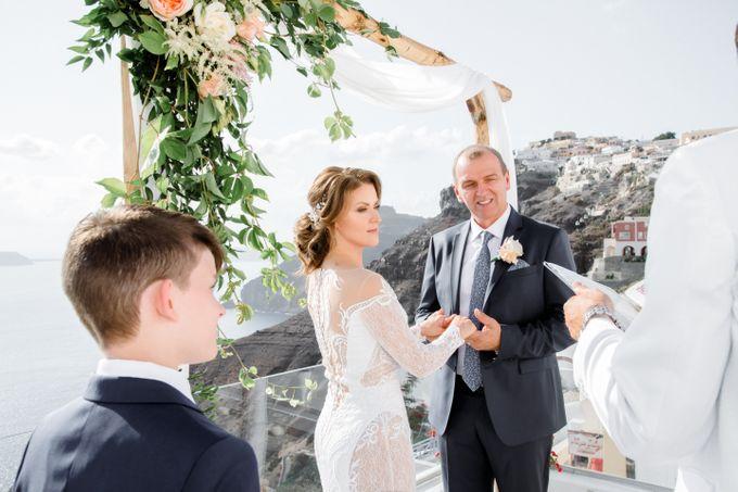 Wedding Ceremony Santorini, Larisa & Oleg by George Chalkiadakis Pro Art Photography - 011
