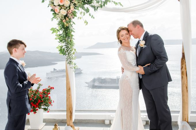 Wedding Ceremony Santorini, Larisa & Oleg by George Chalkiadakis Pro Art Photography - 012