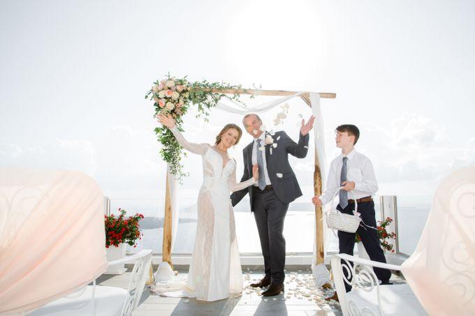 Wedding Ceremony Santorini, Larisa & Oleg by George Chalkiadakis Pro Art Photography - 016