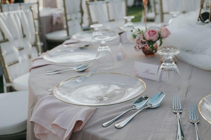 Plated buffet - Angelina & Arland by Kaminari Catering - 023