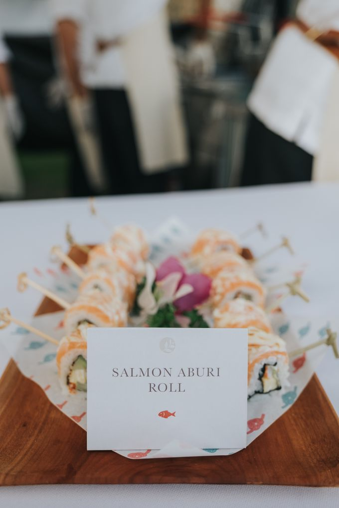 Plated buffet - Angelina & Arland by Kaminari Catering - 028