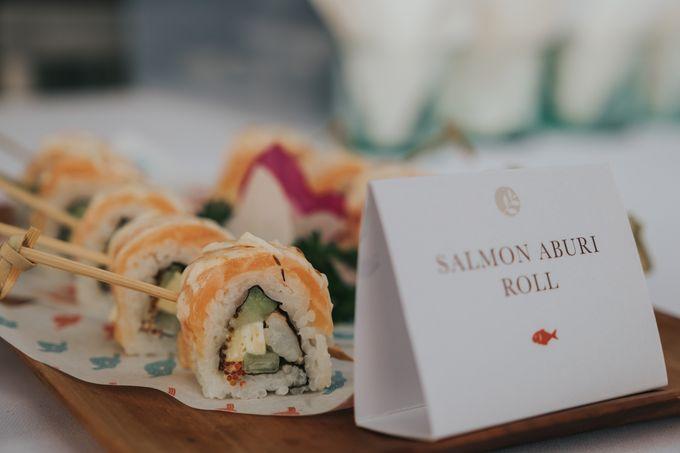 Plated buffet - Angelina & Arland by Kaminari Catering - 035