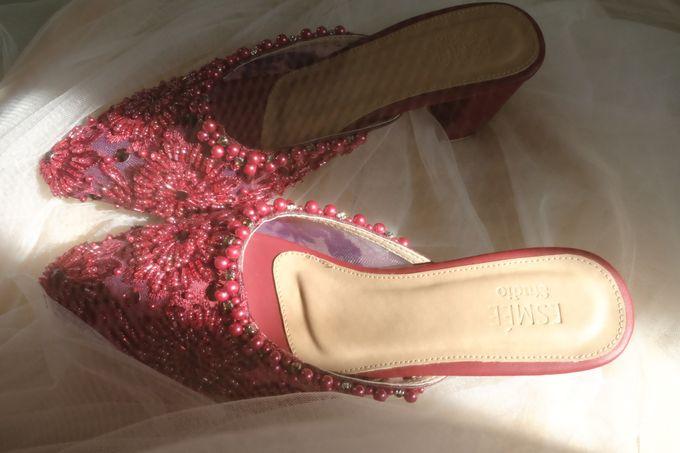 Maroon Bridal Shoes by ESMEE Studio - 002