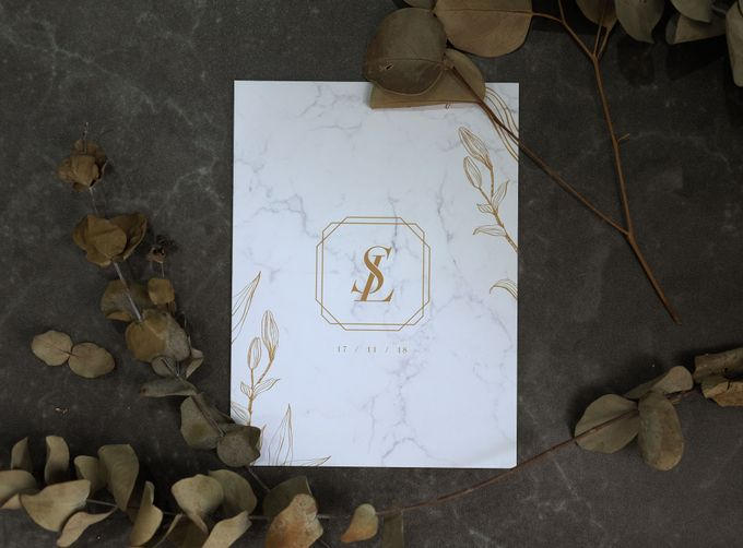 Suinoto & Liliani Marble Wedding Invitation by Bluebelle Invitations - 006