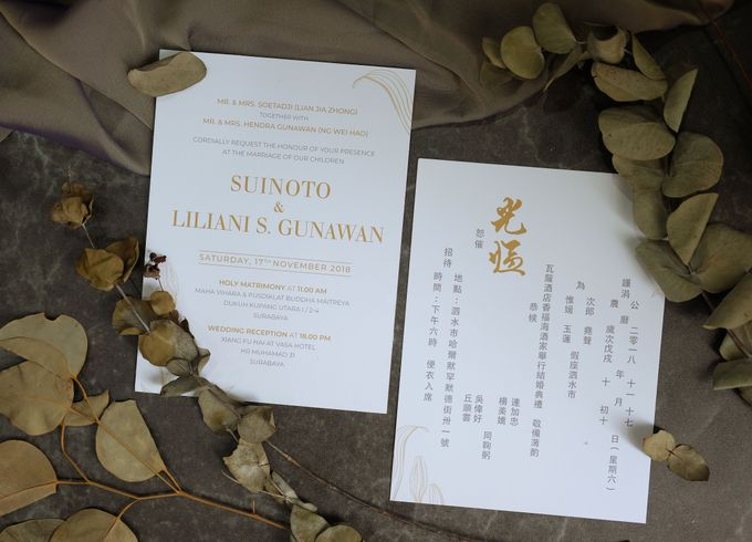Suinoto & Liliani Marble Wedding Invitation by Bluebelle Invitations - 007