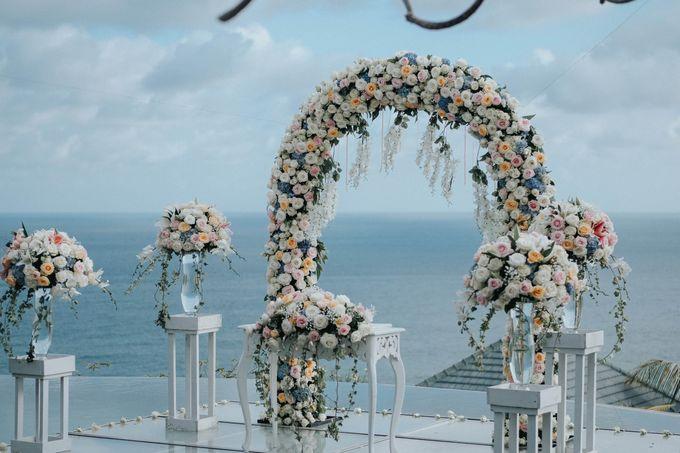 Blush Pastel Wedding by Bali Flower Decor - 005