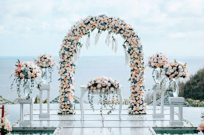 Blush Pastel Wedding by Bali Flower Decor - 001